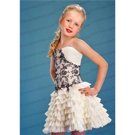 Вечернее короткое платье для девочки 4403