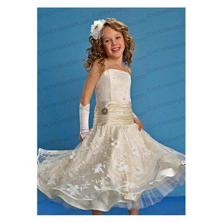 Нарядное платье для девочки нежно-бежевое 1287