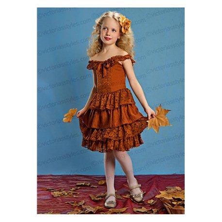 Нарядное платье для девочки до колен 3884