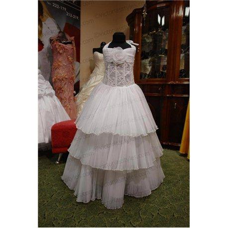 Нарядное белое платье для девочки 2945