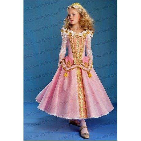 Детское карнавальное платье Аврора Диснеевская Спящая Красавица 4229