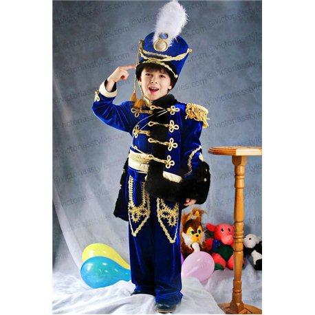Детский карнавальный костюм Гусар синего цвета  2985