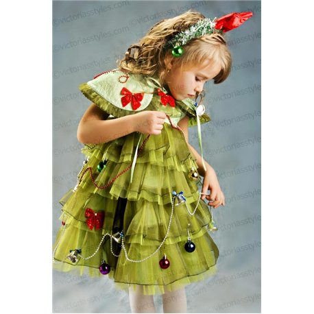 Карнавальное платье Ёлочка 3567, 4387, 4388
