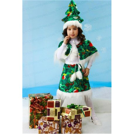 Детский карнавальный костюм Ёлочка 4092