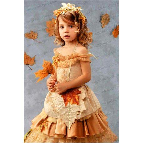 Золотое платье для осени 2971