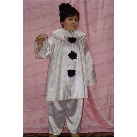 Costum de Carnaval pentru copii Pierrot 0110