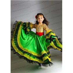 Роскошное бордовое с золотом бальное платье 2319