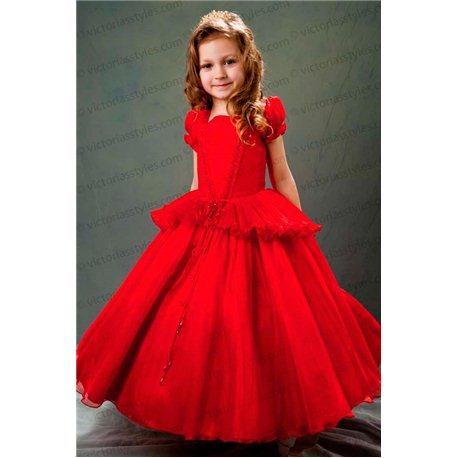 Красное платье плиссе 3644