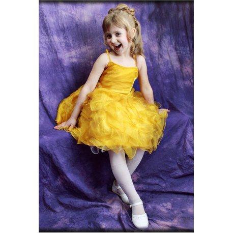 Желтое платье из капрона 0828