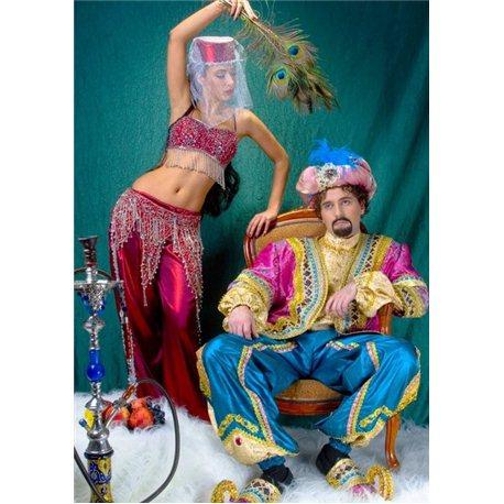 Взрослый, Карнавальный костюм Восточная Красавица бордовая 2122
