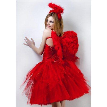 Взрослый, Карнавальный костюм Ангел красный 2246