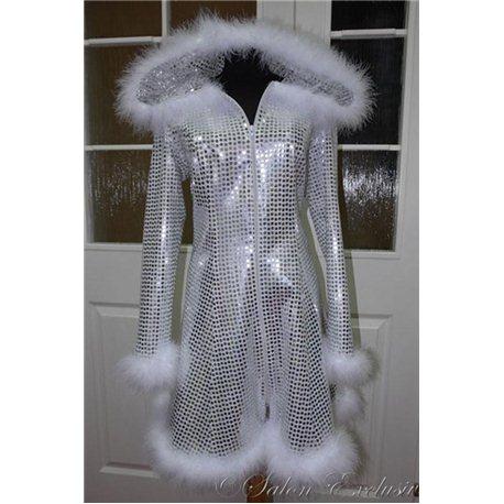 Взрослый карнавальный костюм Снегурочка паетки 3216, 3218