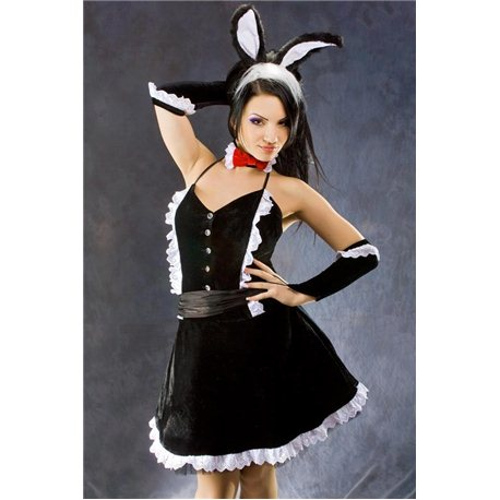 Взрослый, Карнавальный костюм Заяц черный 3806, 3573