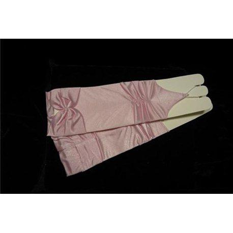 Перчатки для девочек бледно-розовые 0235