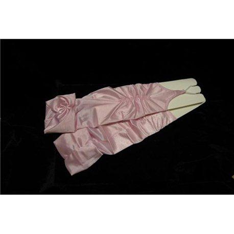Перчатки для девочек бледно-розовые 0238