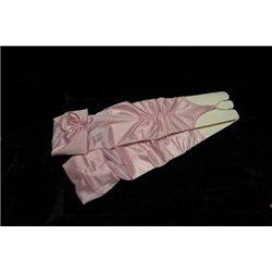 Перчатки для девочек бледно-розовые 0239