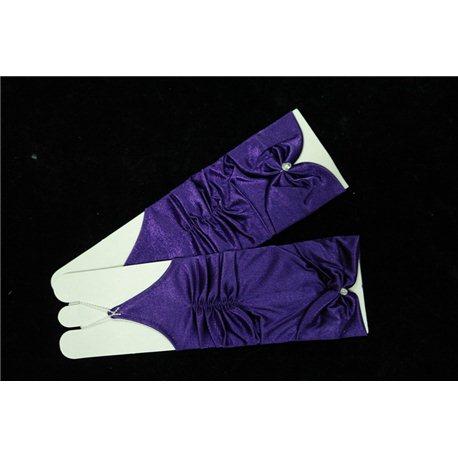 Перчатки для девочек темно-сиреневые 4449