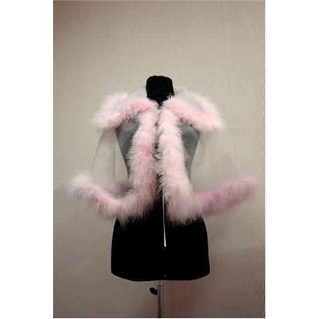 Накидка розовая манка с лебяжим пухом 2606