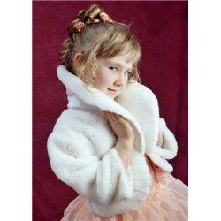 Blană albă pentru copii  S 1733