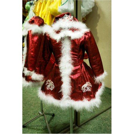 Карнавальный костюм Крэчуница, Снегурочка красная 0698