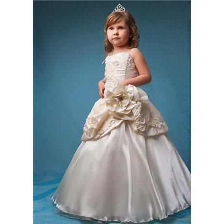Rochie elegantă pentru fetițe bej 2819