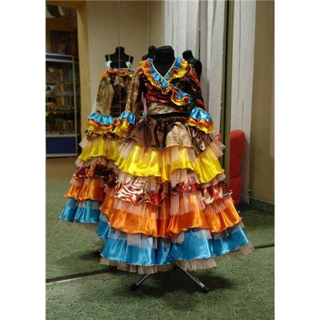 Детский карнавальный и маскарадный костюм Цыганки 1384