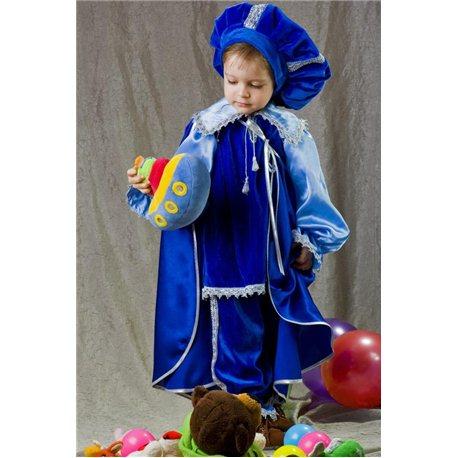 Карнавальный костюм Кот в сапогах, Принц синий 2436, 2435, 2438