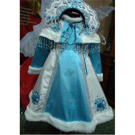 Детский карнавальный и маскарадный костюм Снегурочка 2989