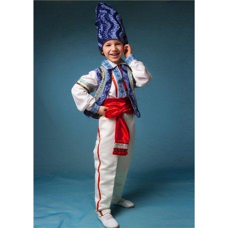 Молдавский Национальный костюм с голубой вышевкой 0316, 0317