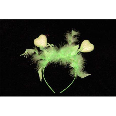 Обруч сердечки с перьями 4649