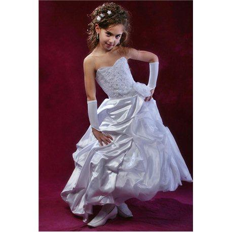 Платье белое 0957