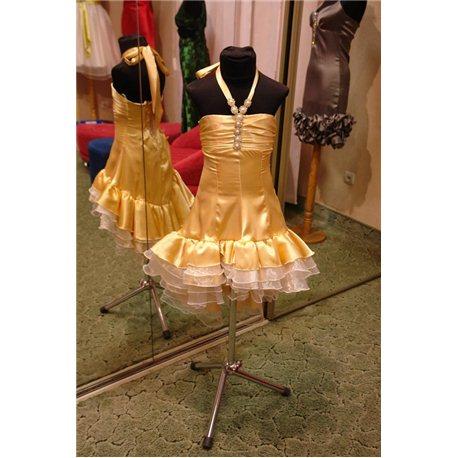 Бежевое платье с хвостиком 1059
