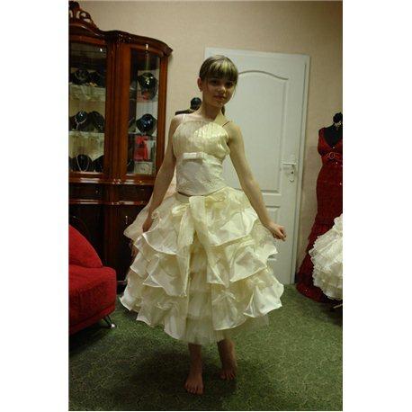 платье бежевое 1356