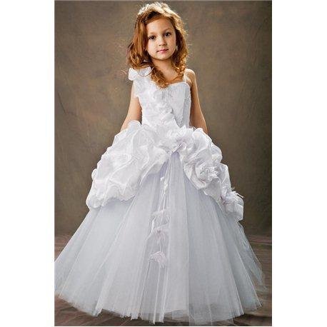 Белое платье для девочки Королевские сливки 1948