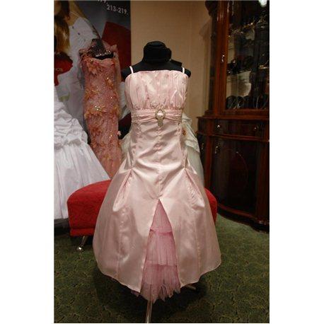 Детское нарядное платье Bella розовое (платье,болеро) 2794