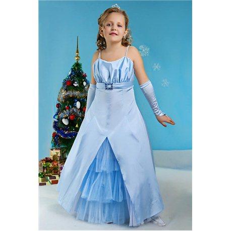 Детское нарядное платье Bella голубое (платье, болеро) 3350