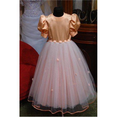 Платье для девочек Фонарик персикового цвета 3530