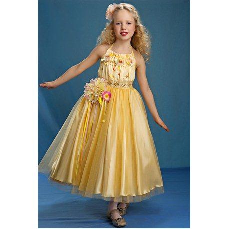 Rochiță pentru fetițe galbenă 3855