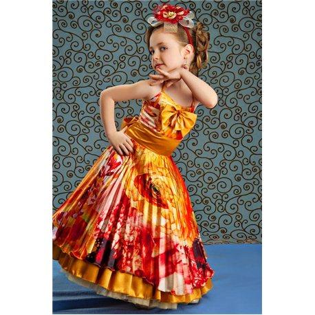 Детское платье Осень-плисе на девочку 5-6 лет 4427, 2843