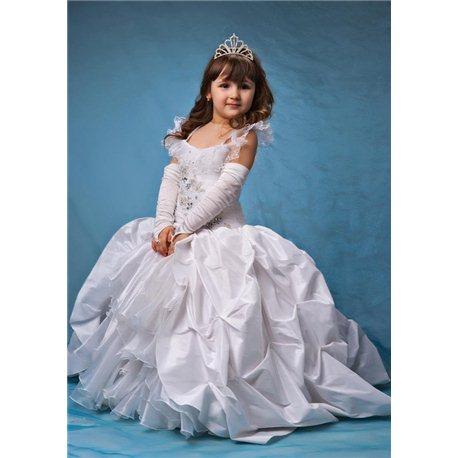 """Платье для девочки """"Alegria colet"""" белое 4434"""