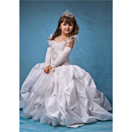 Rochiță alba, elegantă pentru fetițe 4434