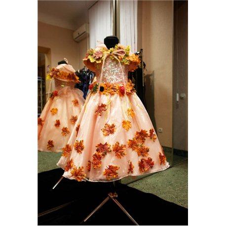 Королева пайетки, Эльф, Бабочка, персиковое 3 (платье, накидка) 4590