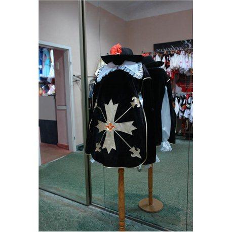 Взрослый карнавальный костюм Мушкетер из черного бархата 0166, 0164, 0160, 0159, 0158