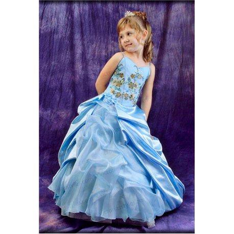 Голубое платье для утренника 0959