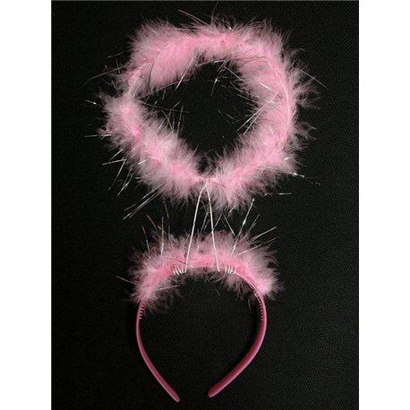 Обруч нимб ангела (белый, розовый) 3398