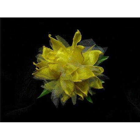 Обруч Хризантема желтая с белым 3428, 3429