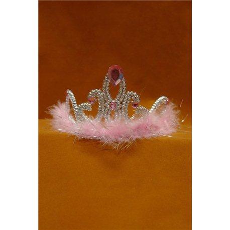 Коронка Снежинка розовая 3910