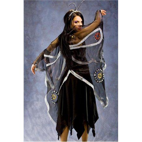 Взрослый карнавальный костюм Бабочка (черная,фиолетовая,оранжевая,темно-голубая ) 3354, 3357, 3355, 3356