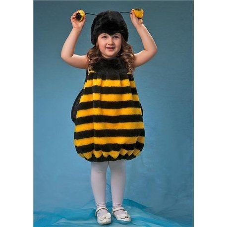 Детский Карнавальный Костюм Пчелка меховая 0297