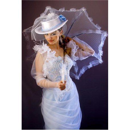 Вечернее платье Анна (Каренина) голубое 2958